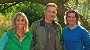 The Autumnwatch Live team: Michaela Strachan, Chris Packham and Martin Hughes-Games